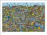 Poster 120 x 90 cm: Cartoon City Berlin von Cartoon City - Hochwertiger Kunstdruck, Neues Kunstposter