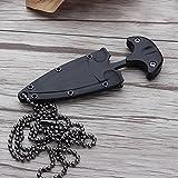 Handfly Coltelli da caccia multifunzione stile collana coltelli dritti da campeggio portatile mini attrezzo tattico di sopravvivenza