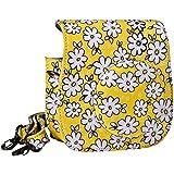 Mudder Kameratasche Gehäuse Taschen mit kameragurt/ Kamera Tragegurt für Fujifilm Instax Mini 8 Fuji Kamera (Gelb)