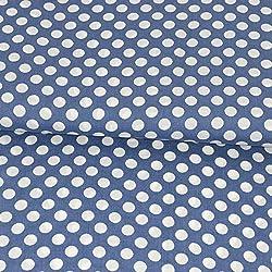 Tela de viscosa de lunares, color azul vaquero, tela de moda, tela de verano, tejidos, precio por 0,5 metros