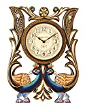 Vintage Clock Peacock Pine Wood Clock (4...