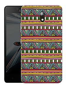 "Humor Gang Aztec Tribal Pattern Printed Designer Mobile Back Cover For ""Lenovo Vibe P1m"" (3D, Matte Finish, Premium Quality, Protective Snap On Slim Hard Phone Case, Multi Color)"