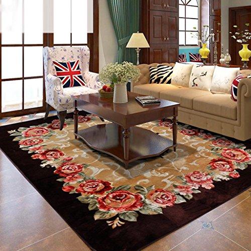 tavolo camera da letto europea moquette rose di nozze di lusso caffè ricoperto di rettangolo (Rettangolo Computer)