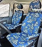Hang Loose Aloha Hawaii Autositzbezüge - Fahrer- & Beifahrerbezuege, inkl. 2 Stück Kopfstützen- und 4 Stück Armlehnenbezüge - Passend für Fast alle Autositze auch z.B. VW T3, T4, T5, T6