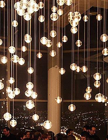 NASEN LED feux de poignée de commande G4 10*21cm 1.5m conduit Restaurants Bocci lustre Aurora Borealis lampe moderne en verre 1PC,White
