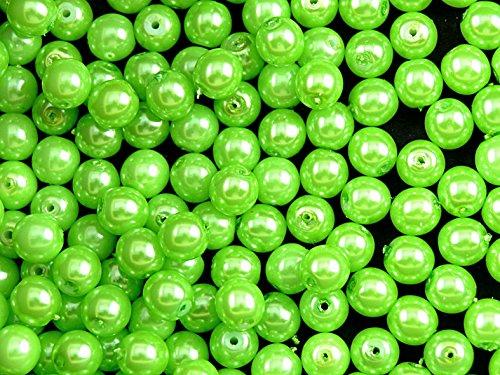 50-perles-en-verre-tcheque-perles-revetement-estrela-rondes-6-mm-vert-pois