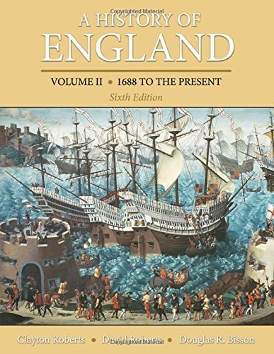 A History of England, Volume 2: 1688 to the present by Clayton Roberts (2013-02-10)