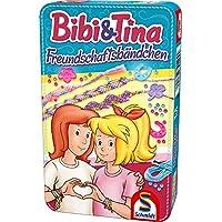 Schmidt-Spiele-51404-Bibi-und-Tina-Freundschaftsbndchen-in-Metalldose-Reisespiel Schmidt Spiele Bibi & Tina 51404 Bibi und Tina, Freundschaftsarmbänder -