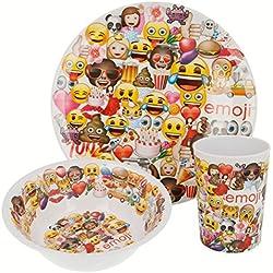Emoji Set melamina sin Orla 3 Piezas (Plato, Cuenco y Vaso) (STOR 86690)