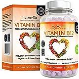 Vitamine B12 1000 µg Perles - Méthylcobalamine Vitamines - Cure de 6 mois/180 Comprimés - Compléments alimentaires...