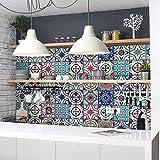 72 (Piezas) Adhesivo para Azulejos 10x10 cm - PS00036 - Lisboa - Adhesivo Decorativo para Azulejos para baño y Cocina - Stickers Azulejos - Collage de