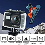 Auslese™ Ultra HD 4K 30FPS 16MP Dual Touch Screen, WiFi Action Camera, Sony Sensor, 170°A+HD Wide-Angle Lens with Wireless Remote Control