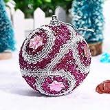 LEEDY 2019 - Bolas de Navidad con Brillantina para árbol de Navidad, 8 cm, decoración de Navidad