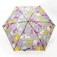 Faye UK Ltd. Eco-Chic Foldable Compact Manual Mini Umbrella Durable Funky Cats