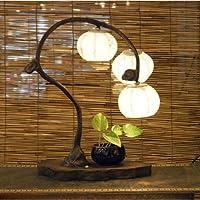2 Laternen Weiss Tischlampe Papier Dekorlampe Porzella Wohnzimmer Schlafzimmer