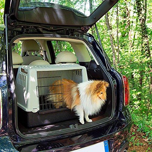 Ferplast 73079021W1 Autotransportbox ATLAS CAR MINI, für Hunde, Maße: 72 x 41 x 51 cm, grau - 4