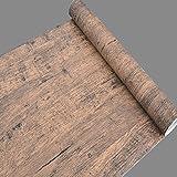 simplelife4u en bois Marron Papier peint pour chambre salon sticker autocollant Contact pour porte PAPIER
