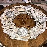 Dinzler GbR Adventskranz Rohling Natur Holz mit Tellern Ø 40 cm