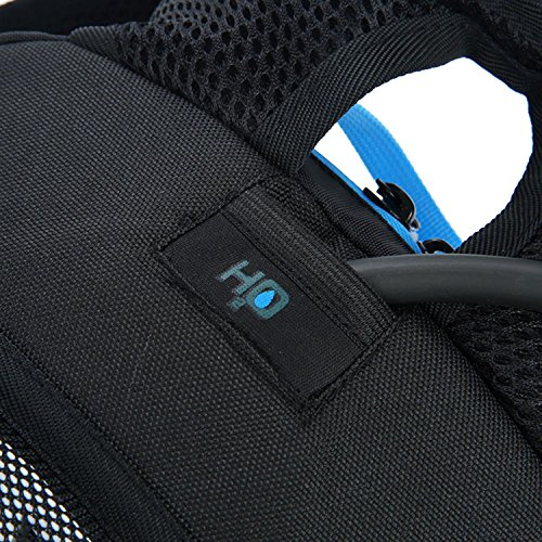 HWJF Reitradtasche Outdoor Wasserbeutel Fliegen & Wandern Tasche mit einem Helm Basketball Netz Blue