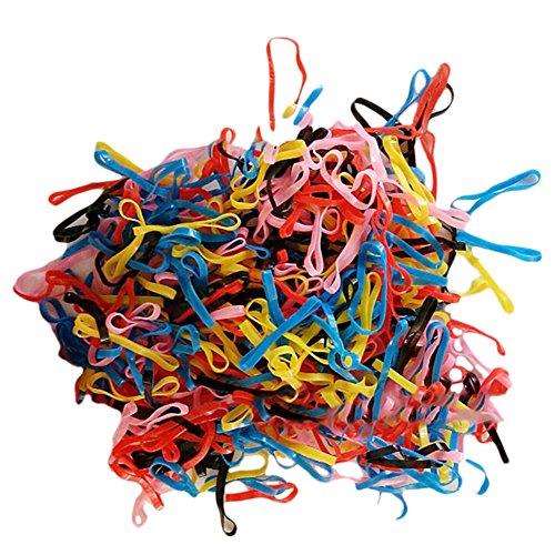 Oyfel Elastische Haargummis Bunt 1000 Stück Haarbänder Pferdeschwanz Inhaber Karikatur Bobbles Bands Haar Bänder Spirale für Mädchen Damen Kleinkind Baby Kinder