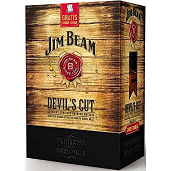 jim beam devils cut geschenkset mit tumbler 0 7l 45 bier wein spirituosen. Black Bedroom Furniture Sets. Home Design Ideas