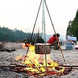 Outdoor Picknick Dreifuß Stativ Holzkohlegrill Feuerschale Dreibein Schwenkgrill YUEWO