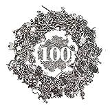 RUBY - Lote 100 Piezas Aleatorios de Colgantes de Metal Zamak Dijes Variados para Bisuteria (Metal, Pack 100 Unidades)