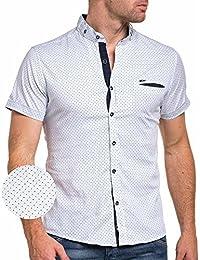 BLZ jeans - Chemisette blanche et bleu à pois homme
