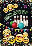 JuNa-Experten 12 Einladungskarten Geburtstag Kinder Jungen Jungs Mädchen Bowling / Einladung zur Bowling-Party / Kartenset