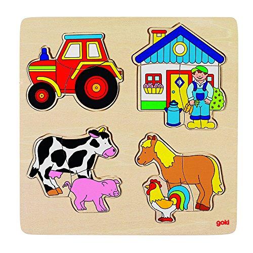Goki 57902 - Einlegepuzzle - Bauernhof