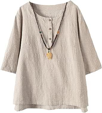 Vogstyle Donna Nuovo Tunica T-Shirt Maglietta Jacquard Top