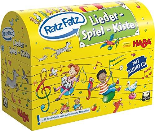 HABA 303035 - Ratz Fatz Lieder-Spiel-Kiste | Mit vielen Spielideen und einer Lieder-CD |Tolle Unterhaltung für bis zu 4 Spieler von 3-12 Jahren