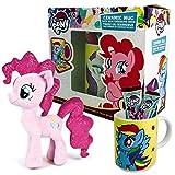 My Little Pony Geschenkset mit Kakaotasse Schokolade und Plüschtier - Mein Kleines Pony Set mit Tasse und Stofftier (Pinkie Pie)