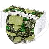 100 piezas unisex cubierta facial para niños 3 ply tela de importación talla única para niños niñas - 3-12 años