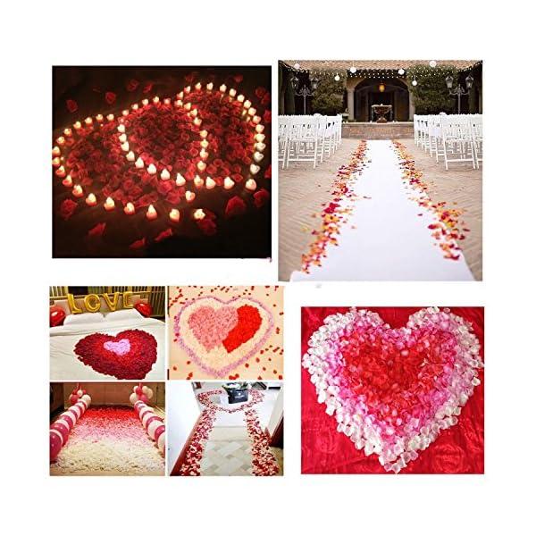 JZK 1000 x Pétalos de Rosa para decoración Bodas Fiestas Confeti para el día San valentín o Fiesta Compromiso Evento…
