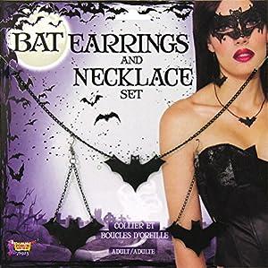 Bristol 78923 Novedad Bat - Pendientes y collar, talla única