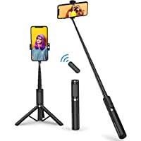 Mobilife Bluetooth Selfie Stick Tripod, Mini Extendable 3 in 1 Aluminum Selfie Stick with Wireless & Rechargeable Remote…