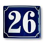 Hausnummer Hausnummernschild Emaille 12x14 cm mit Wunschnummer Premiumqualität …