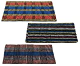 "Story@Home Traditional Style Eco Series 3 Piece Cotton Blend Door Mat Set - 16""x24"", Multicolour"
