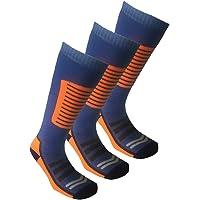 Men's and Women's Pack of 3 Long Hose High Performance Ski Socks