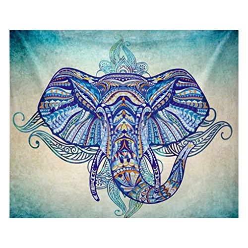 Befaith-Elefante-Playa-Tapa-Tapestry-Muro-Mantel-Sof-Cubierta-Yoga-Mat