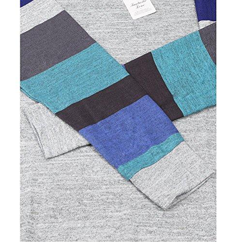 Magic Zone Damen Langarmshirts Rundhals Tunika Pullover Shirt Oberteile Blau
