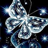 5D Diamant Painting, erthome Handarbeit Basteln 5D DIY Diamant Malerei Kreuzstich Strass Kit Mosaik Gemälde Raumdekor | Schmetterling Diamant Malerei Stickerei Gemälde Strass (B 25x25cm)