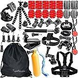 togetherone 41en 1Esencial Kit de accesorios para GoPro Hero 4Gopro Hero 3+ GoPro Hero 2Cámara Kit de accesorios para GoPro 4y sj4000sj5000sj6000Deportes, accesorios de cámara en Paracaidismo Buceo Surf Remo Running Ciclismo Acampada