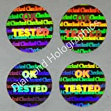 #8: Diamond Hologram Stickers OK Tested, 5000pcs (13mm Round)