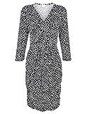 Alba Moda White Damen Jerseykleid mit Schwalben-Print