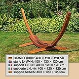 Großes & edles Hängemattengestell Madagaskar 400 cm | Holz wetterfeste sibirische Lärche - 3