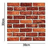 Lifemaison 3D Ziegelstein Tapete Brick Pattern Wallpaper Wandaufkleber Fototapete für Wohnzimmer, Schlafzimmer