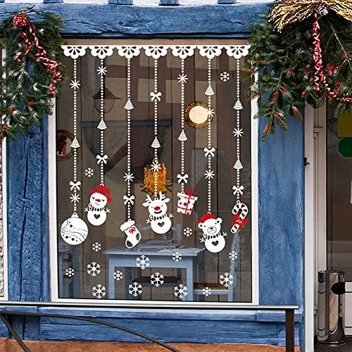Pbldb 60X90Cm Nouveau Style Boule De Neige De Noël Vinyle Fenêtre Sticker Mural Décorations De Noël Pour La Maison De Fête Supplie