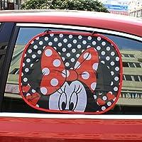 Par parasol plegable la ventana lateral del coche Sombrilla automático estática Cling Protector para sol uso fácil,Disney Minnie Mouse